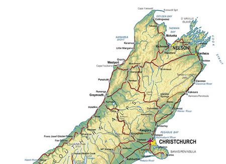 Map Nelson New Zealand.New Zealand Accommodation Shopping Entertainment And Tourism Guides